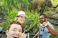 with clients safari